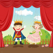 Royalty-Free Stock Vector Image: Puppets