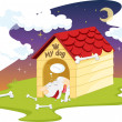 Stock Vector: Dog house