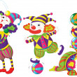 Royalty-Free Stock Vector Image: Funny clowns