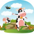 Resting cows — Stock Vector