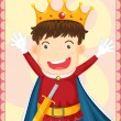 Cartoon illustration of a king - Stock Vector