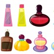 Bottles of perfume - Stock Vector