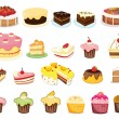 Royalty-Free Stock Vector Image: Cake collection