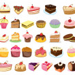 Cakes and desserts — Vector de stock #10115825