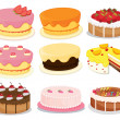 Cakes collection 2 — Stockvectorbeeld