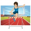 Hurdling - Stock Vector