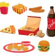 Stock Vector: junk food