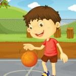 Basketball boy — Stock Vector