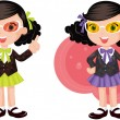 Girls — Stock Vector