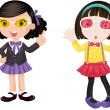 Stock Vector: Girls
