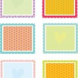 Square patterns — Stock Vector