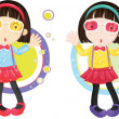 Two Girls — Stock Vector #10116450