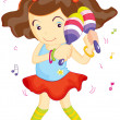 Maraca Girl - Stock Vector