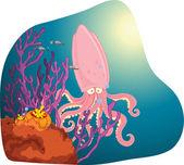 Berörda squid — Stockvektor