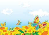 Pollenating — Stock Vector