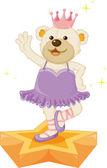 Dancing bear — Vetorial Stock