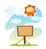 Noticeboard and sun — Stock Vector