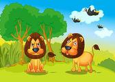 ライオン — ストックベクタ