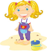 Blonde toddler — Stock Vector