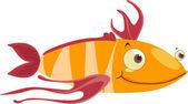 Strange fish — Stock Vector