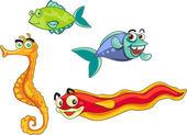 1 魚 2 魚 — ストックベクタ
