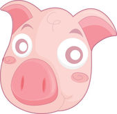Pig face — Stock Vector