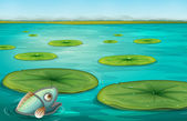 Waterlelies — Stockvector