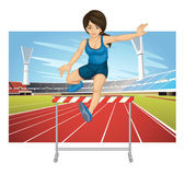 Hurdling — Stock Vector
