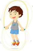 Kid playing — Stock Vector