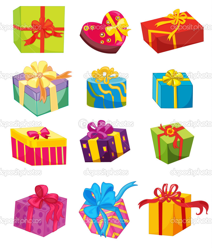 Illustration of presents on white — Stock Vector #10115816