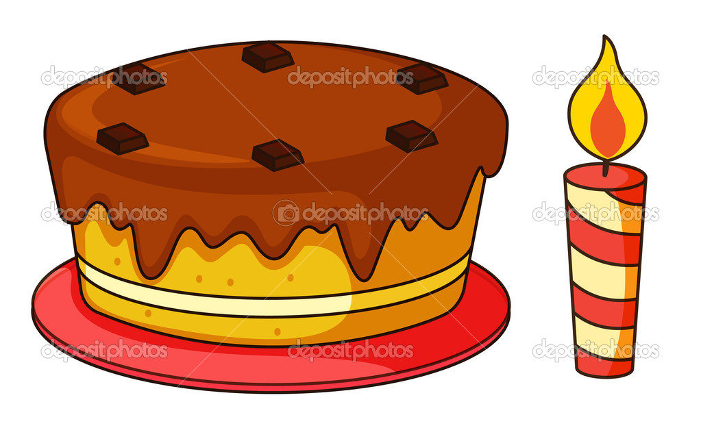 Illustration of cake on a white background — Stock Vector #10115821