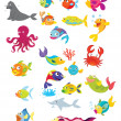 Stock Vector: Sea life