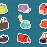 Handbag stickers — Stock Vector