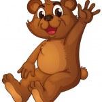 Animated bear — Stock Vector