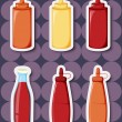 Royalty-Free Stock Vector Image: Sticker series of ketchup