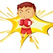 Stock Vector: Boxing boy