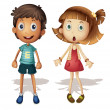 Boy and girl — Vector de stock #10273159