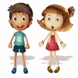 Boy and girl — Imagen vectorial