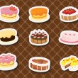 Sweet dessert - Stock Vector