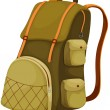 Backpack - Stock Vector
