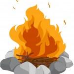 Campfire — Stock Vector #10273320