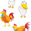 Stock Vector: Fowls