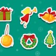 Sticker collection of presents — Vector de stock