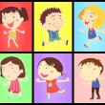 Постер, плакат: Kids on colours