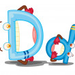The letter D — Stock Vector