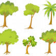 Various trees and plants — Stock Vector