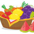 Royalty-Free Stock Vector Image: Fruit basket