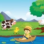 Farm scene — Stock Vector #10275056