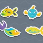 Mixed fish — Stock Vector #10275099