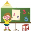 Stock Vector: Teaching how to count